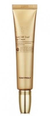 Крем для век TONY MOLY Intense care gold 24k snail eye cream 25мл: фото
