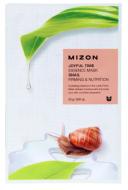 Тканевая маска с муцином улитки MIZON Joyful time essence mask snail 23г: фото