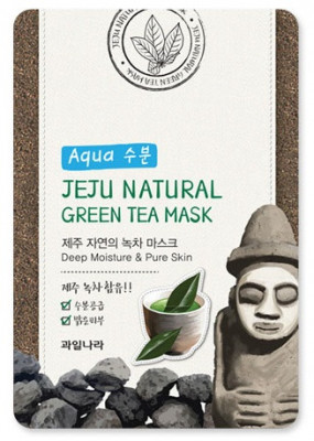 Маска для лица успокаивающая Welcos Jeju Nature's Green Tea Mask 20мл: фото