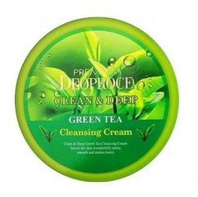 Крем для лица очищающий с экстрактом зеленого чая DEOPROCE PREMIUM CLEAN & DEEP GREEN TEA CLEANSING CREAM 300г: фото