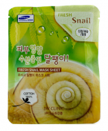 Тканевая маска для лица с муцином улитки 3W CLINIC Fresh Snail Mask Sheet 23мл: фото