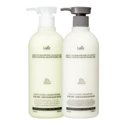 Lador Moisture Balancing Silicon Shampoo + conditioner set: фото
