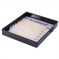 Ресницы Bombini Holi Белые, 6 линий, изгиб D MIX 8-13 0.10: фото