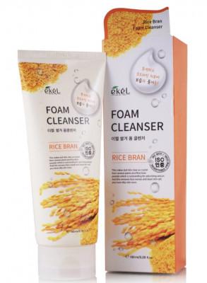 Пена для умывания с рисовыми отрубями Ekel Foam Cleanser Rice Bran 180 мл: фото