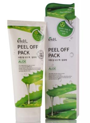 Маска-пленка с экстрактом алоэ EKEL Peel off pack Aloe 180мл: фото