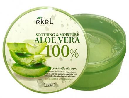 EKEL Универсальный гель с экстрактом алоэ вера Soothing & Moisture Aloe Vera 100% 300г: фото