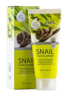 Пенка для умывания с муцином улитки EKEL Foam Cleanser Snail 100мл: фото