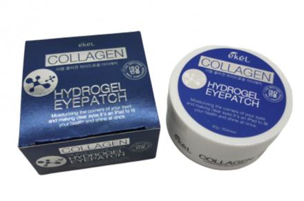 Гидрогелевые патчи под глаза с коллагеном EKEL Hydrogel Eye Patch Collagen 60шт: фото
