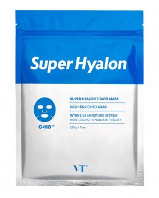 Набор тканевых масок с 8 видами гиалуроновой кислоты VT Super Hyalon 7 Days Mask 7шт: фото
