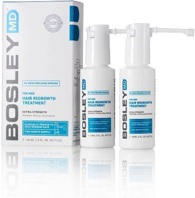 Усилитель роста волос для мужчин (Миноксидил 5%) спрей Bosley For man Hair Regrowth Spray 5% 60мл*2: фото