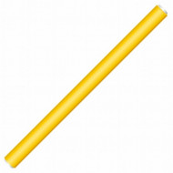 Бигуди-папилоты 18см желтые Ø 12мм Hairway: фото