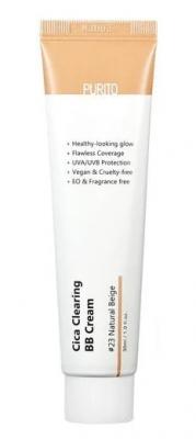 BB-крем для чувствительной кожи с экстрактом центеллы Purito Cica clearing BB cream #23 Natural Beige 30мл: фото